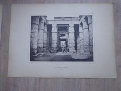 PLANCHE Phototypie La Porte Temple De Khons Karnac Egypte Bechard Photographe   Quinsac Paris