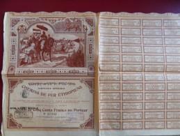 COMPAGNIE IMPERIALE DES CHEMINS DE FER ETHIOPIENS  ILLUSTRATION BOMBLED - Chemin De Fer & Tramway