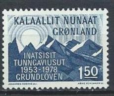 Groënland 1978 N°97 Neuf Loi Constitutionnelle - Greenland