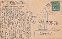 DR AK Bodenwerder EF Minr.356 Hann. Münden 11.9.25 Mit Porto-Stempel - Deutschland