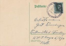 DR Karte EF Minr.646 SST München 20.4.37 - Briefe U. Dokumente