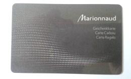 GIFT CARD - SWITZERLAND - MARIONNAUD 01. - Tarjetas De Regalo