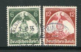 ALLEMAGNE- EMPIRE- Y&T N°545 Et 546- Oblitérés - Used Stamps