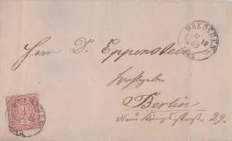 NDP Brief EF Minr.16 K2 Wreschen 31.12.69 - Norddeutscher Postbezirk