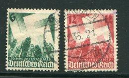 ALLEMAGNE- EMPIRE- Y&T N°580 Et  581- Oblitérés - Allemagne