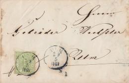 Wüttemberg Brief EF Minr.36 Ulm 29.5. - Wuerttemberg