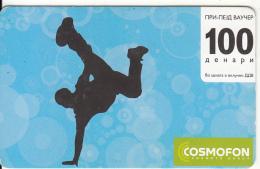 F.Y.R.O.M. - Cosmofon Prepaid Card 100 Dinars, Exp.date 25/02/11, Used - Macedonia
