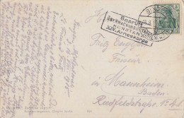 DR Karte EF Minr.85 Singen 16,8,15 Mit Zensurstempel Konstanz XIV. Armeekorps - Deutschland