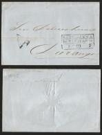 G)1845 MEXICO, 4 REALES, SANTA-ANNA DE TAMAULIPAS BLACK BOX, CIRCULATED COVER TO DURANGO, XF - Mexico