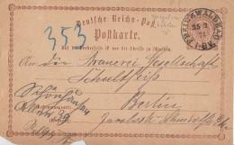 DR Ganzsache K2 Freienwalde 25.2.74 Spiegelverkehrtes N Von Freienwalde - Briefe U. Dokumente