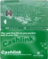 Telefonkarte Malta - Werbung - Cashlink  - Bank Of Valetta - 60 Units - Malta