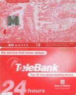 Telefonkarte Malta - Werbung - TeleBank  - Bank Of Valetta - 40 Units - Malta