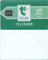 Telefonkarte Malta - Werbung - Telemalta - Grün  - 60 Units - Lm3 - Malta