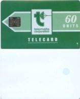 Telefonkarte Malta - Werbung - Telemalta - Grün  - 60 Units - Malta