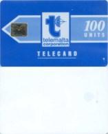 Telefonkarte Malta - Werbung - Telemalta - Blau  - 100 Units - Malta