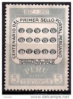 B255 - Perú 1957 - The 100th Anniversary Of First Peruvian Postage Stamp   Used - Peru