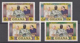 Ghana 1981  Mi.nr:  880-883  1.Jahrestag Des Besuches Von Papst....  NEUF SANS CHARNIERE / MNH / POSTFRIS - Ghana (1957-...)