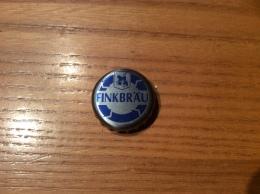 """Capsule De Bière """"FINKBRAU"""" Bleu Sur Gris - Cerveza"""