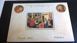 SMOM NATALE 2002 BEATO ANGELICO ANNUNCIAZIONE - BF INTEGRO - Sovrano Militare Ordine Di Malta