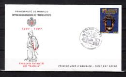 """Env. 1er Jour De 1996 """" 37ème FESTIVAL DE TELEVISION DE MONTE-CARLO """" N° YT 2080. Parfait état. FDC - FDC"""