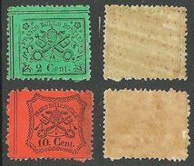 ITALY Papal State Kirchenstaat 1868 Michel 19 & 22 MNH - Italie