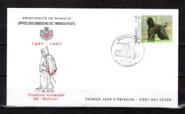 """MONACO 1996 : Enveloppe 1er Jour """" EXPOSITION CANINE / AFGHAN HOUND """" N° YT 2079. Parfait état. FDC - FDC"""