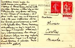CP De Turckheim Pour Carolles  _50 C _bande Pub_Byrrh_Daguin - 1906-38 Semeuse Camée