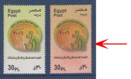 Egypt - 2006 - RARE - Reddish Instead Of Green Background - ( National Housing Census ) - MNH (**) - Egypt