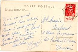 CP De Matha Pour LEs Sables D'Olonne_Bande Pub_ Musée - 1945-54 Marianne De Gandon