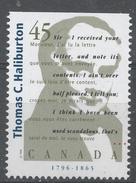 Canada 1996. Scott #1626 (MNH) Thomas G. Haliburton (1796-1865), Author - Neufs
