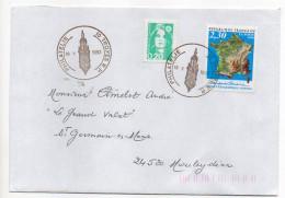 1992--cachet  TROYES R.P  Philatélie  Sur Tp 50ème Anniv  Institut Géographique Sur Lettre Pour Mouleydier-24 - Marcophilie (Lettres)