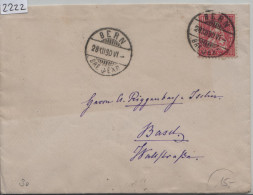 1880 Sitzende Helvetia/Helvétie Assise 38/30 - Stempel: Bern Nach Basel 28.XII.80 - 1862-1881 Sitzende Helvetia (gezähnt)