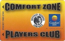 Gulches Of Fun Casino - Deadwood, SD - Slot Card With Comfort Inn & Buffalo Bodega Logos (BLANK) - Casino Cards