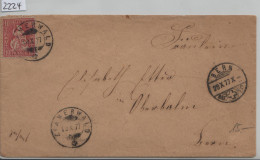 1877 Sitzende Helvetia/Helvétie Assise 38/30 - Stempel: Zimmerwald & Bern 28.X.77 - 1862-1881 Sitzende Helvetia (gezähnt)