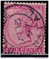 Natal 1874, Queen Victoria, 1p, Scott# 51, Used - Afrique Du Sud (...-1961)