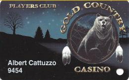 Gold Country Casino - Oroville, CA - Slot Card - No Signature Strip - Casino Cards