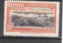 BRAZIL / BRASIL / BRESIL 1937 , YT 331 , Congrès RADIO / Broadcasting Congress , Neuf * / MH, TB - Neufs