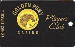 Golden Pony Casino Okemah, OK - Slot Card - Reverse Logo Totally Under Text (BLANK) - Casino Cards