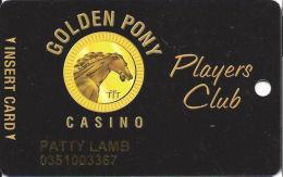 Golden Pony Casino Okemah, OK - Slot Card - Reverse Logo Totally Under Text - Casino Cards