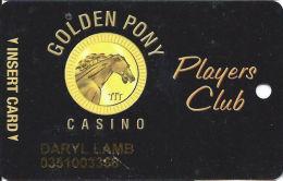 Golden Pony Casino Okemah, OK - Slot Card - Reverse Logo Extends To Left Of Text Above - Casino Cards