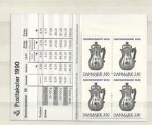 1990 MNH Danmark, Booklet S53  Postfris - Carnets
