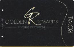 Golden Tavern Group Royal Level Golden Rewards Casino Slot Card (BLANK) - Casino Cards