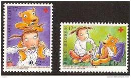 Belgium**RED CROSS- Teddy Bear-2stamps-1999-MNH-Nounours Croix Rouge- Rode Kruis - Belgium