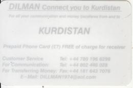 KURDISTAN(NORTH IRAQ) - Dilman Prepaid Card, Used - Other – Asia