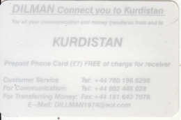 KURDISTAN(NORTH IRAQ) - Dilman Prepaid Card, Used - Phonecards
