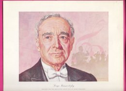 PIC00013 Magnavox Painting Of Conductor Serge Koussevitzky. - Old Paper