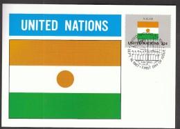 United Nations New York 1987 / Flags / MC / Niger - Banderas