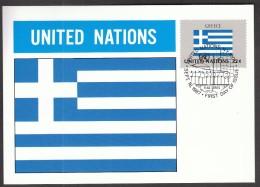 United Nations New York 1987 / Flags / MC / Greece - Flaggen