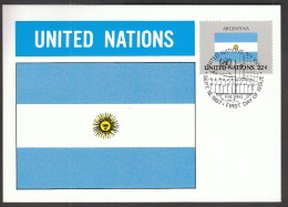 United Nations New York 1987 / Flags / MC / Argentina - Bandiere