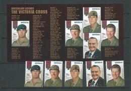 Australia 2015 Victoria Cross War Medal Legends Set Of 5 Singles + Miniature Sheet MNH - Nuovi